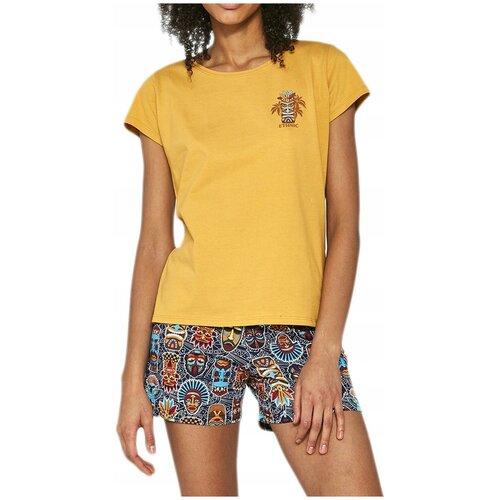 628/189 Пижама женская Cornette Ethnic - размер: S, цвет: Янтарный