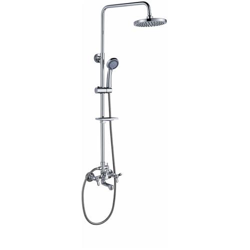 Смеситель для ванны и душа Rossinka Silvermix Q02-46 Тропический дождь