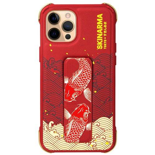 Чехол для Apple iPhone 12 Pro Max Skinarma Nami Red / Чехол бампер на iPhone / накладка на iPhone / защитный чехол на айфон / защитный чехол / защитный бампер для iPhone / накладка для айфона / противоударный бампер для телефона / чехол на телефон / противоударный чехол для iPhone / бампер айфон / чехол на айфон / защитный чехол / защитный бампер для iPhone / накладка для айфона / противоударный бампер для телефона / чехол на телефон чехол