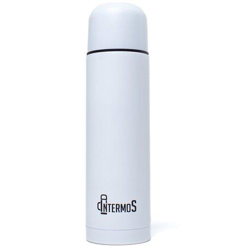 Intermos / Классический термос 0,75л/ Туристическая посуда/Металлический белый/Для чая/Походная кухня