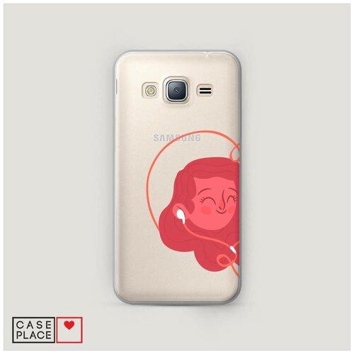 Чехол Пластиковый Samsung Galaxy J3 2016 Музыка для влюбленных 1