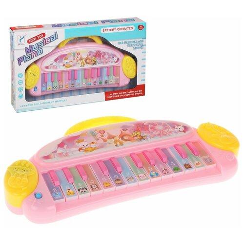 Купить Орган Наша Игрушка 24 клавиши, звуки животных, мелодии, коробка (200647096), Наша игрушка, Детские музыкальные инструменты