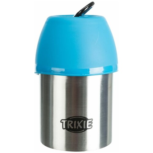 Бутылка дорожная с миской, 0,3 л, Trixie (цвет миски может отличаться, 24605)