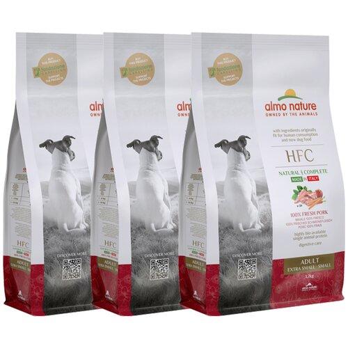 Almo Nature Для взрослых собак со свежей Свининой (50% мяса) для карликовых и мелких пород (XS-S Adult Pork) 1,2 кг х 3 шт.