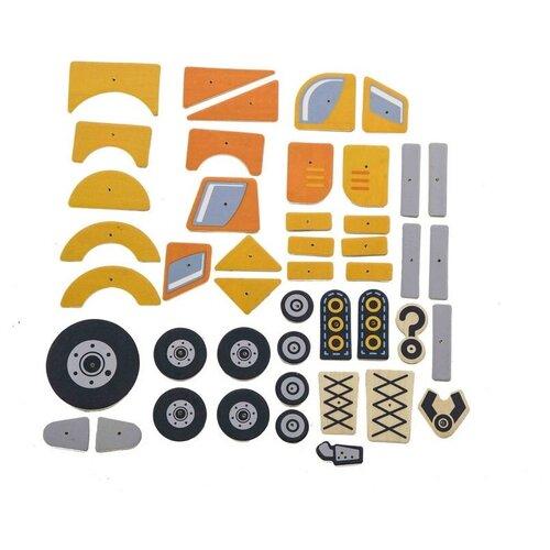 Фото - VIGA Конструктор Транспорт, 45 деталей VIGA пазл для малышей viga транспорт 7 деталей звук