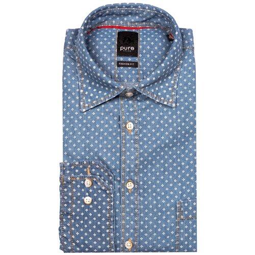 Рубашка pure размер M голубой