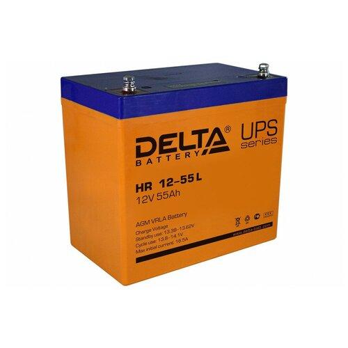 Аккумулятор Delta HR 12-55 L аккумулятор delta battery gel 12 55