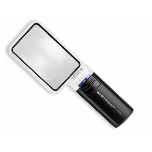 Фото - Лупа асферическая ручная с подсветкой Eschenbach mobilux LED, 90 х 54 мм, 3.0х, 8.0 дптр лупа асферическая для рукоделия eschenbach maxiplus 100х140 мм 2 0х 2 6 дптр и дополнительной лин
