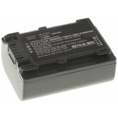 Фото - Аккумулятор iBatt iB-U1-F298 600mAh для Sony PXW-X70, HDR-CX250E, HDR-CX110E, HDR-CX360E, HDR-CX550E, HDR-CX130E, DCR-SX44E, HDR-CX200E, HDR-XR550E, HDR-CX190E, DCR-SX44, HDR-CX580E, HDR-CX280E, HDR-CX400E, экшн камера sony hdr as50r черный