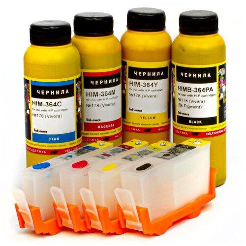 Фото - Набор перезаправляемых картриджей и чернила ink-mate HIM364 для HP Deskjet Ink Advantage 3525, 3520, 4615, 4625, 5525, 6525, 3625 чернила краска для заправки принтера hp deskjet ink advantage 3638 набор макси