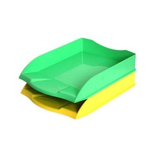 Купить Лоток для бумаг горизонтальный Attache Selection в ассортименте (2 штуки в упаковке) 1 шт., Лотки для бумаги