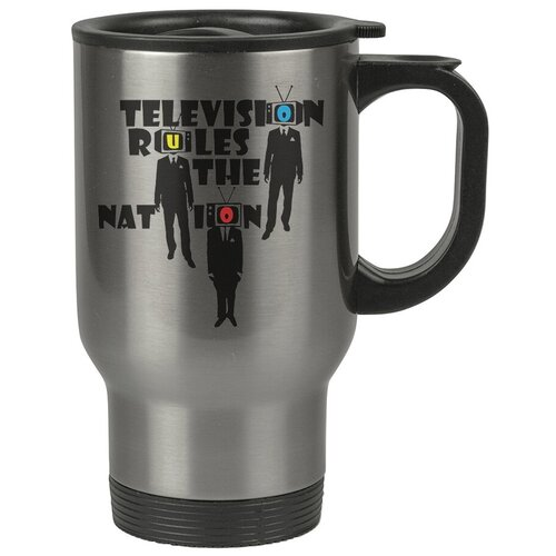 Автомобильная термокружка Television rules , Телевизор управляет