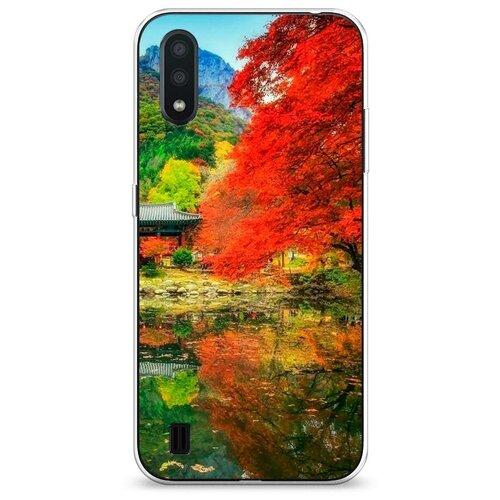 Чехол Силиконовый Samsung Galaxy A01 Осенний сад
