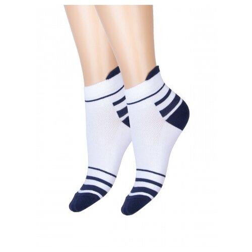 Носки женские Красная ветка С 418, Белый, Синий, 25 (размер обуви 37-39)