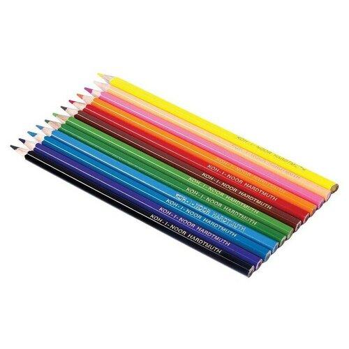 Купить Карандаши цветные Koh-i-Noor Teenage 12 цветов 3552012042KSRU, Цветные карандаши