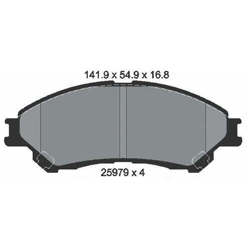 Дисковые тормозные колодки передние Textar 2597901 для Suzuki SX4, Suzuki Vitara, Suzuki Ciaz (4 шт.)
