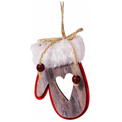 Фото - Деревянная ёлочная игрушка привет из варежки - сердечко, 7х10 см,, Breitner 22-1160-сердечко scb271028 металлическая подвеска сердечко белая ножка 9 см сердечко 5 3 см scrapberry s
