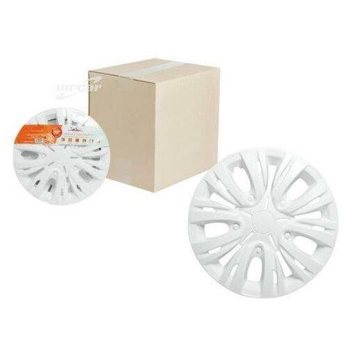 AIRLINE AWCC1503 Колпаки колесные 15 Лион, белый, карбон, компл. 2 шт. AWCC-15-03