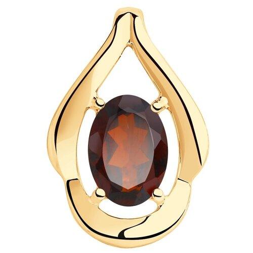 Фото - Diamant Подвеска из золота с гранатом 51-330-00296-2 sabellino сумка sabellino 19ср 00296 21