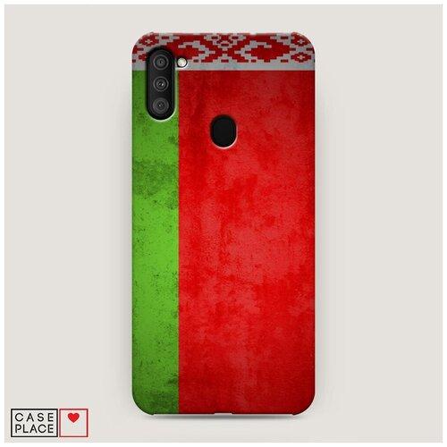 Чехол Пластиковый Samsung Galaxy A11 Флаг Белоруссии 1