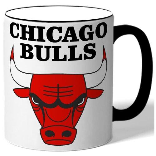 Кружка с цветной ручкой в подарок баскетболисту Chicago bulls