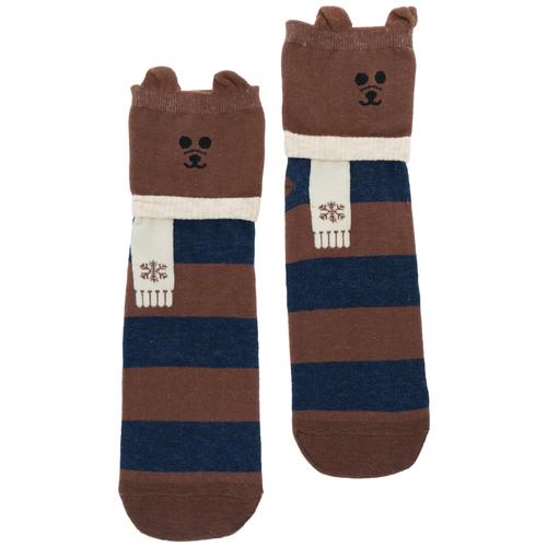 Носки Kawaii Factory Пес, размер 36-38, коричневый