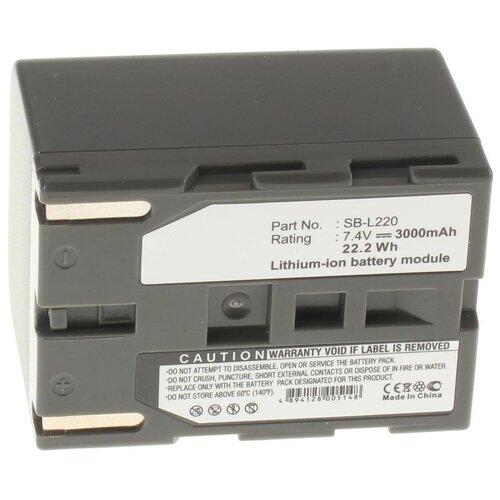 Аккумуляторная батарея iBatt 3000mAh для Samsung SB-LS70