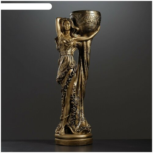 Фигурное кашпо Девушка Нимфа бронза 80см фигурное кашпо пара ангелов бронза 63см 1145958