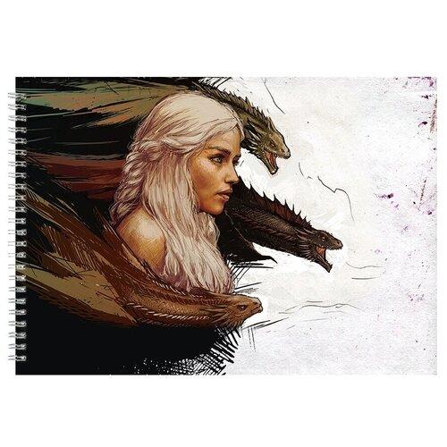 Альбом для рисования, скетчбук Игра престолов девушка