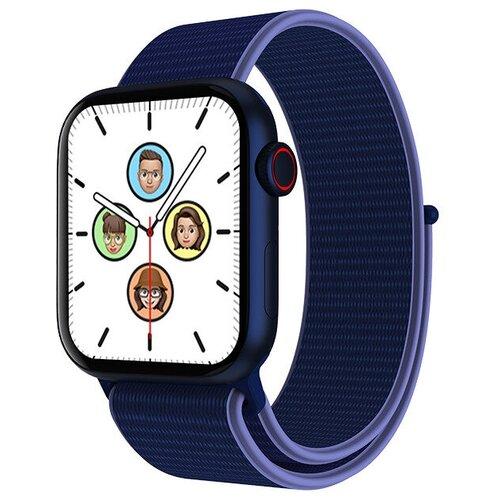 Умные часы IWO HW19 Series 6, два ремешка, 44мм, синие