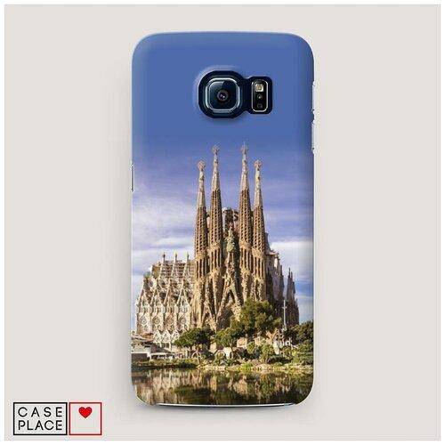 Чехол Пластиковый Samsung Galaxy S7 Храм святого семейства в Барселоне 1