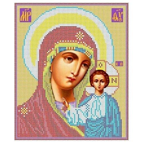 Богородица Казанская Рисунок на ткани 19х23 Каролинка ткби 4023 19х23 Каролинка ткби 4023)