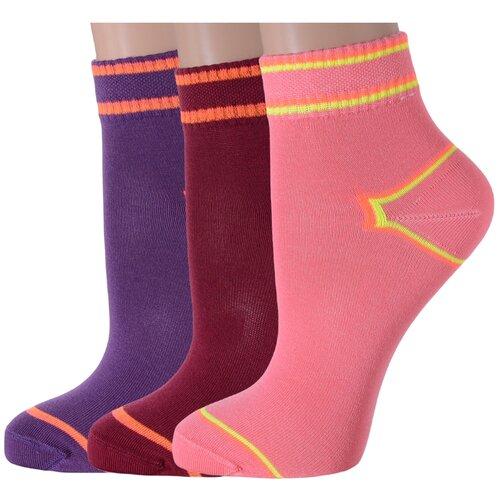 Комплект из 3 пар женских носков LORENZLine микс 2, размер 25 (37-38) комплект из 3 пар носков laredoute la redoute 35 38 синий