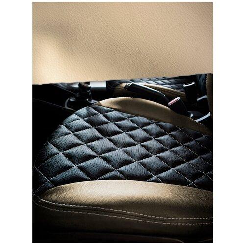 Экокожа автомобильная, искусственная кожа, гладкая - 1,4х10 м, цвет: бежевый