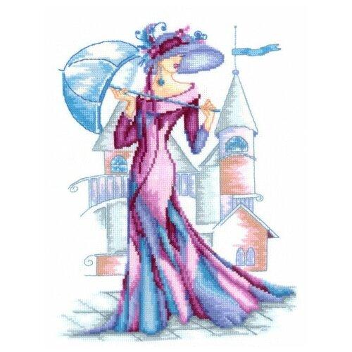 Набор для вышивания сделай своими руками Р-13 Пурпурный шелк 22х29 см
