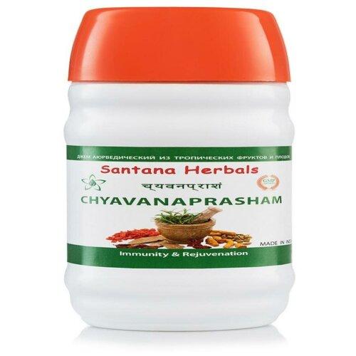 Джем аюрведический ЧАВАНПРАШ (Santana), 200 гр. Прекрасное средство для усиления иммунитета чаванпраш джем sangam herbals