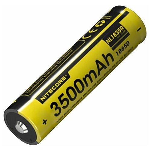 Фото - Аккумулятор Nitecore NL1835R 18650 Li-ion 3.7v 3500mA с подзарядом от USB аккумулятор nitecore nl1665r