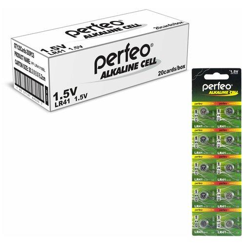 Фото - Батарейка Perfeo LR41/10BL Alkaline Cell 392A AG3, 200шт батарейка aa щелочная perfeo lr6 10bl super alkaline 10 шт