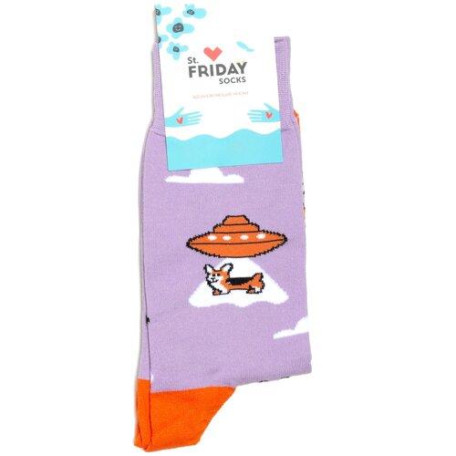 Носки с рисунками St.Friday Socks - Корги пришельцы 34-37