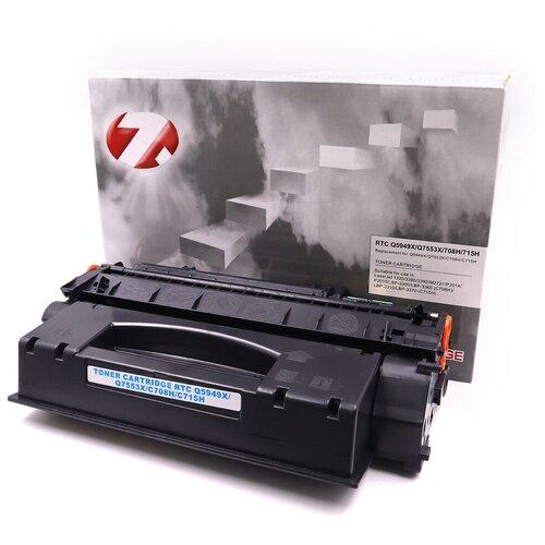 Фото - Лазерный картридж 7Q Q5949X/Q7553X/708H/715H для HP LJ 1320, LJ P2015 и Canon LBP3300 (Чёрный, 7000 стр.), универсальный барабан hp q5949a q5949x q7553a q7553x canon crg 708