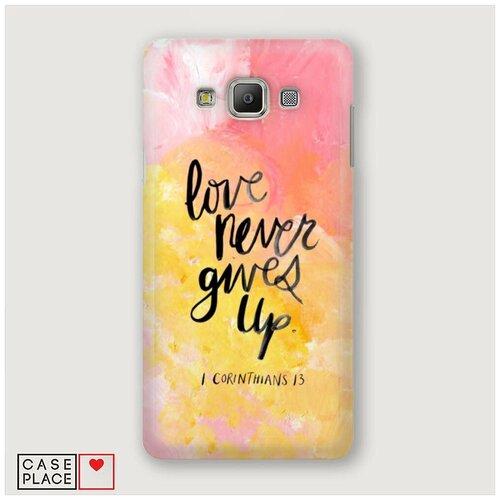 Чехол Пластиковый Samsung Galaxy A5 Цитата на акриле