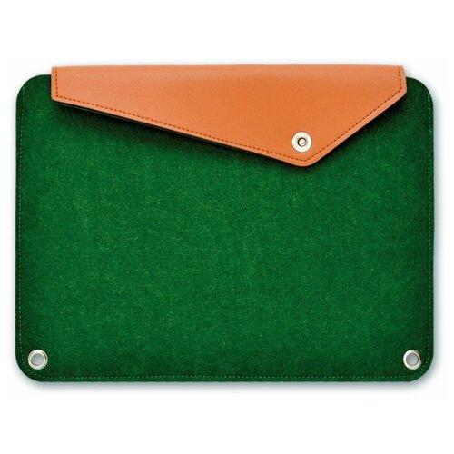 Купить Папка д/документов/гаджетов арт.46382/5 папка темно-зеленый (А4+, 36x26 см, одно отделение, фетр синтетический, кнопка, ПЭТ-пакет), Феникс+, Файлы и папки