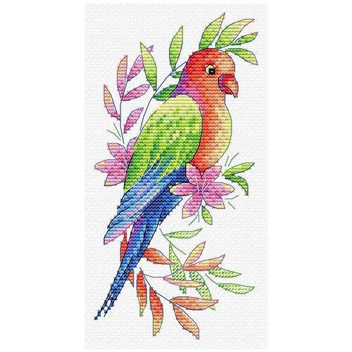Купить Набор для вышивания М.П.Студия В №08 вышивка на одежде №535 Попугай 9 х 19 см 1 шт., Жар-птица, Наборы для вышивания