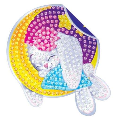 Фото - Алмазная вышивка - наклейка Зайка для детей + емкость, стержень с клеевой подушечкой 1814659 3572058 алмазная мозаика для детей котик емкость стержень с клеевой подушечкой