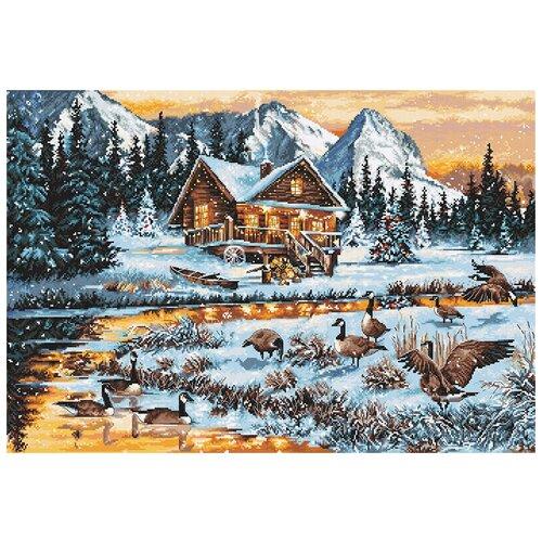 Купить Luca-S Набор для вышивания Гуси у реки, 49.5 х 34 см, B590, Наборы для вышивания