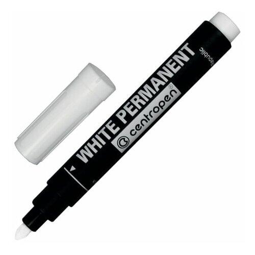 Купить Маркер перманентный белый CENTROPEN, круглый наконечник, 2, 5 мм, 8586, 5 8586 0100, 3 шт., Маркеры