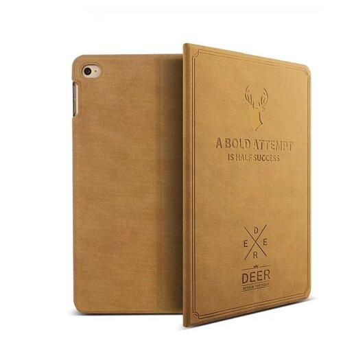 Чехол-обложка MyPads для iPad Air 1 с трансформацией в мульти-подставку тематика книга в Винтажном стиле коричневый