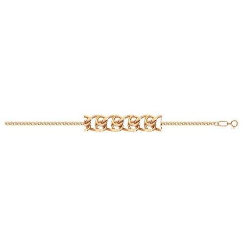 АДАМАС Браслет золотой плетения LOVE БЛ135А2-А51, 19 см, 1.43 г