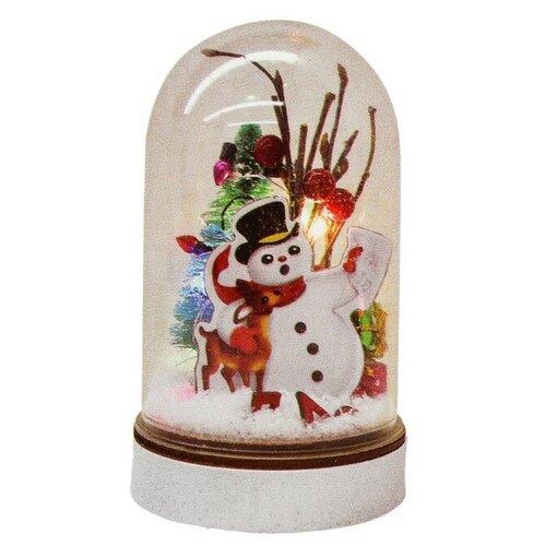 Фото - Набор для творчества - создай елочное украшение Снеговик с подарками с подсветкой 4304520 набор для творчества опыт n4 шаромагия создай шарики со слизью