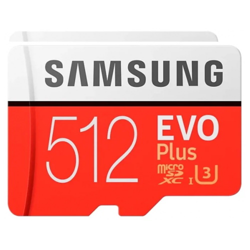 Фото - Карта памяти 512GB Samsung MB-MC512HA microSDXC EVO Plus 100MB/s + SD adapter карта памяти samsung 64gb evo plus v2 microsdxc class 10 u1 sd adapter mb mc64ha